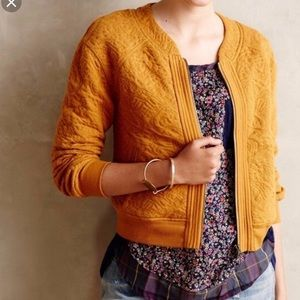 Jackets & Blazers - ANTHROPOLOGIE QUILTED BOMBER JACKET